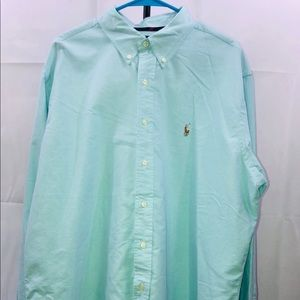 POLO RALPH LAUREN Button Down Shirt Mens XXL Blue
